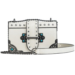 Shoespie Rivet Interior Zipper Medium Crossbody Bag