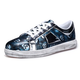 Special Print Lace-Up Men's Sneakers