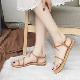 Toe Ring Buckle Summer Flat Sandals