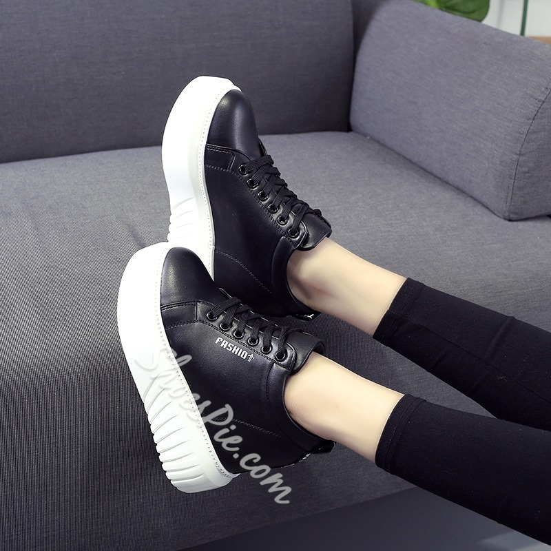 Casual Hidden Elevator High Heel Sneakers