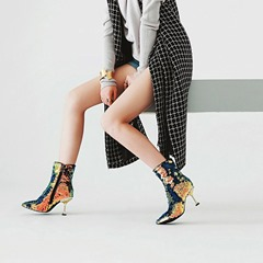 Sequin Sexy Pointed Toe Ankle Boots