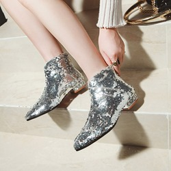 Shoespie Sequin Fashion Glitter Ankle Boots