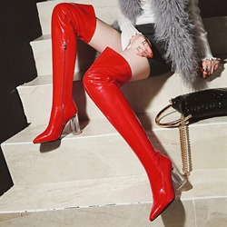Pointed Toe Fashion Thigh High Boots
