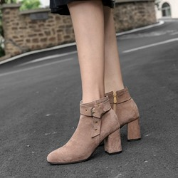 Buckle Pointed Toe Fashion Ankle Boots