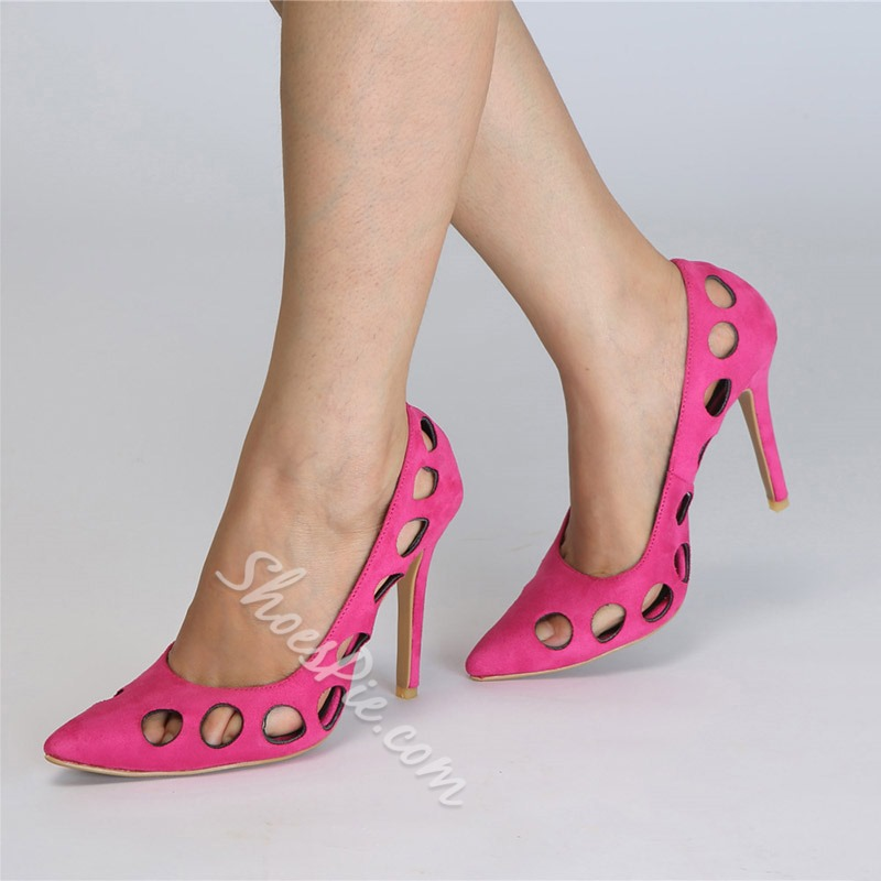 Shoespie Rose Hollow Suede Stiletto Heels