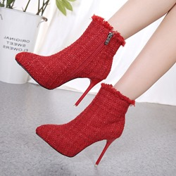 Shoespie Pointed Toe Platform Ankle Boots