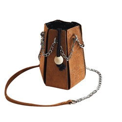 Modern Style String Barrel Shaped Women Shoulder Bag