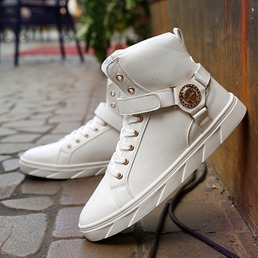 Shoespie Stylish High Upper Lace-Up Men's Sneakers