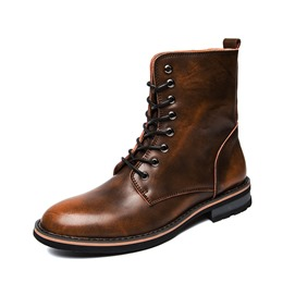 Shoespie Thread Brush Off Lace-Up Men's Boots