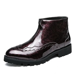 Shoespie Fashion Front Zipper Mne's Boots