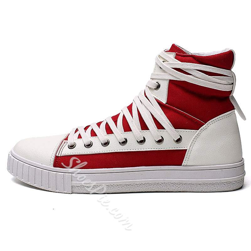 Shoespie Canvas High Upper Lace-Up Men's Shoes