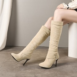 Shoespie Fashion Slip-On High Heel Boots