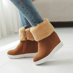 Platform Comfortable Wedge Heel Ankle Boots