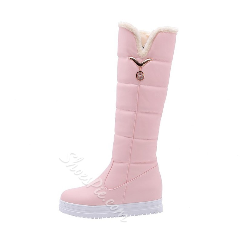 Shoespie Casual Platform Wedge Heel Knee High Boots