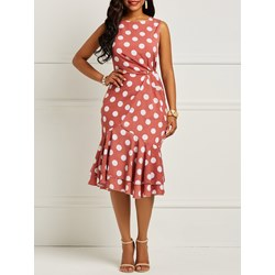 Shoespie Polka Dots Vintage Women's Bodycon Dress