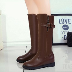 Shoespie Buckle Casual Knee High Boots