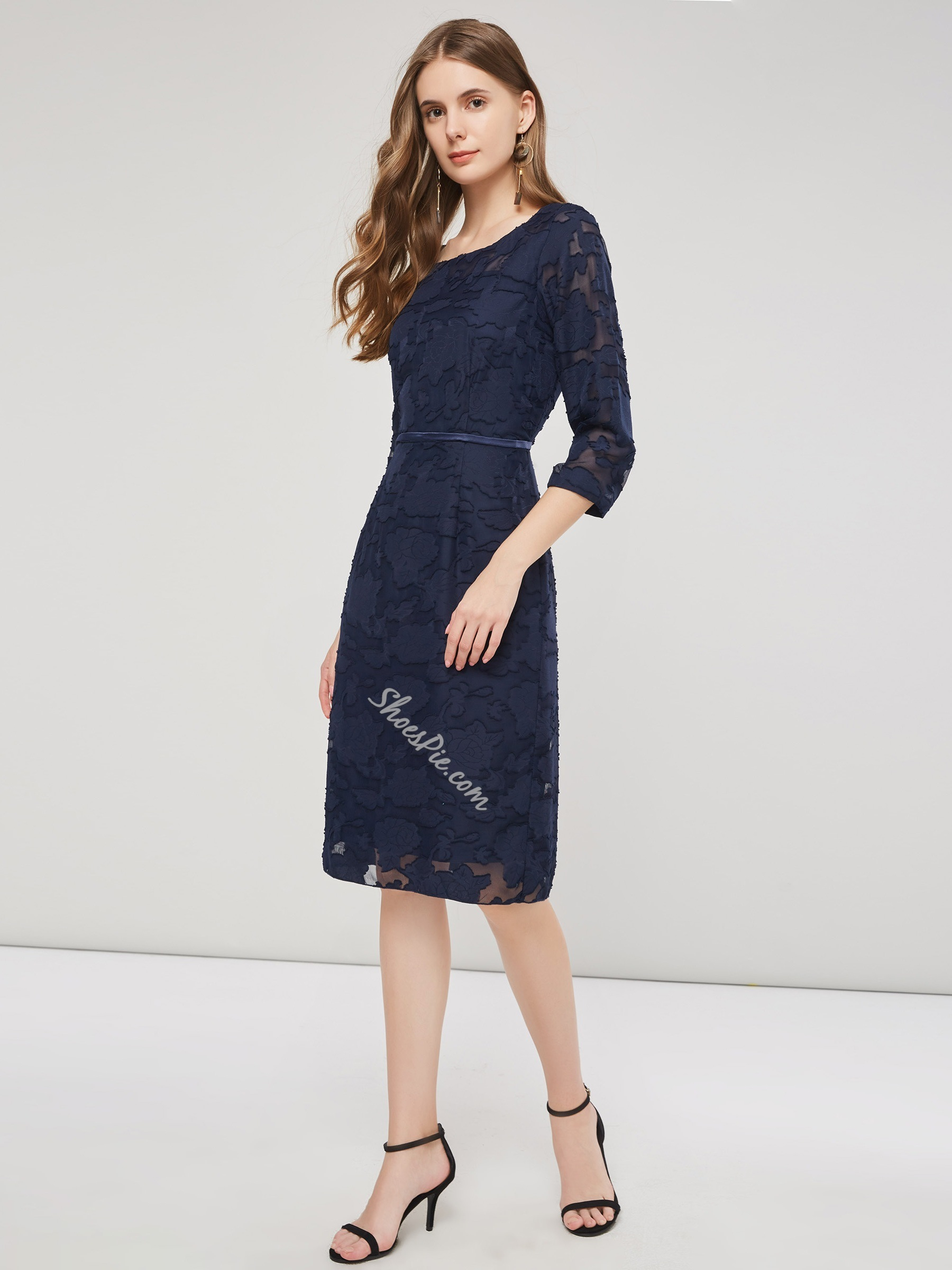 Shoespie Lace Plain Women's Bodycon Dress