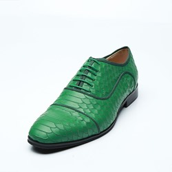 Shoespie Green Lace-Up Professional Men's Boots
