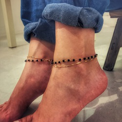 Simple Beads Multilayer Anklets