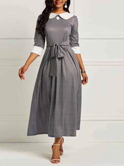 Shoespie Expansion Pullover Sweet Women's Maxi Dress
