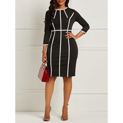 Pullover Print Stripe Women's Bodycon Dress