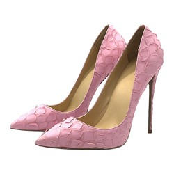 Shoespie Pink Stylish Slip-On Stiletto Heels