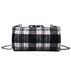 Shoespie Plaid Color Block Chain Women Crossbody Bag