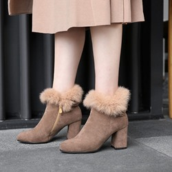 Shoespie Cute Suede Fashion Snow Boots