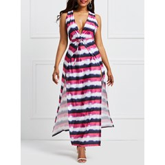 Shoespie Expansion V Neck Backless Women's Maxi Dress