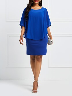 Shoespie Plain Batwing Sleeve Women's Bodycon Dress