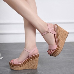 Ankle Strap Open Toe Casual Wedge Sandals