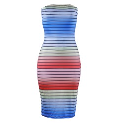 Shoespie Strapless Pullover Stripe Women's Bodycon Dress