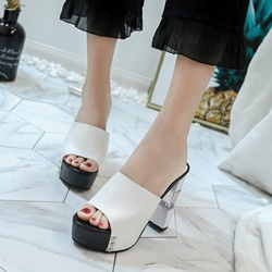 Jelly Casual Slip-On High Heel Mules
