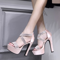 Brilliant Rhinestone Platform High Heels