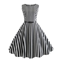 Shoespie Stripe Pullover Trumpet Women's Skater Dress