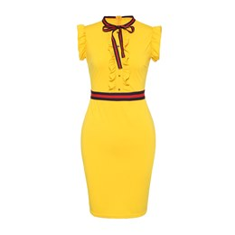Shoespie Patchwork Pullover Women's Bodycon Dress