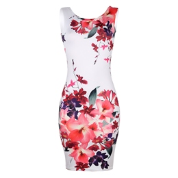 Shoespie Pullover Floral Women's Bodycon Dress