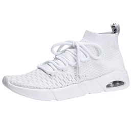 High Upper Breathable Lace-Up Men's Sneakers