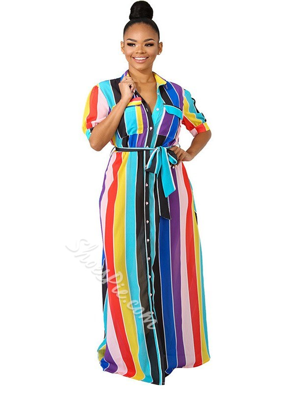 19977349204 Shoespie Color Block Western Pocket Women s Maxi Dress- Shoespie.com