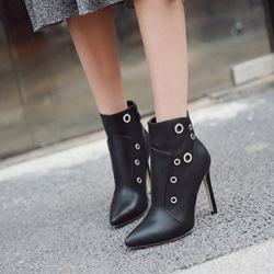 Shoespie Black Fashion Stiletto Heel Ankle Boots