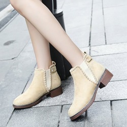 Shoespie Suede Thread Chelsea Ankle Boots