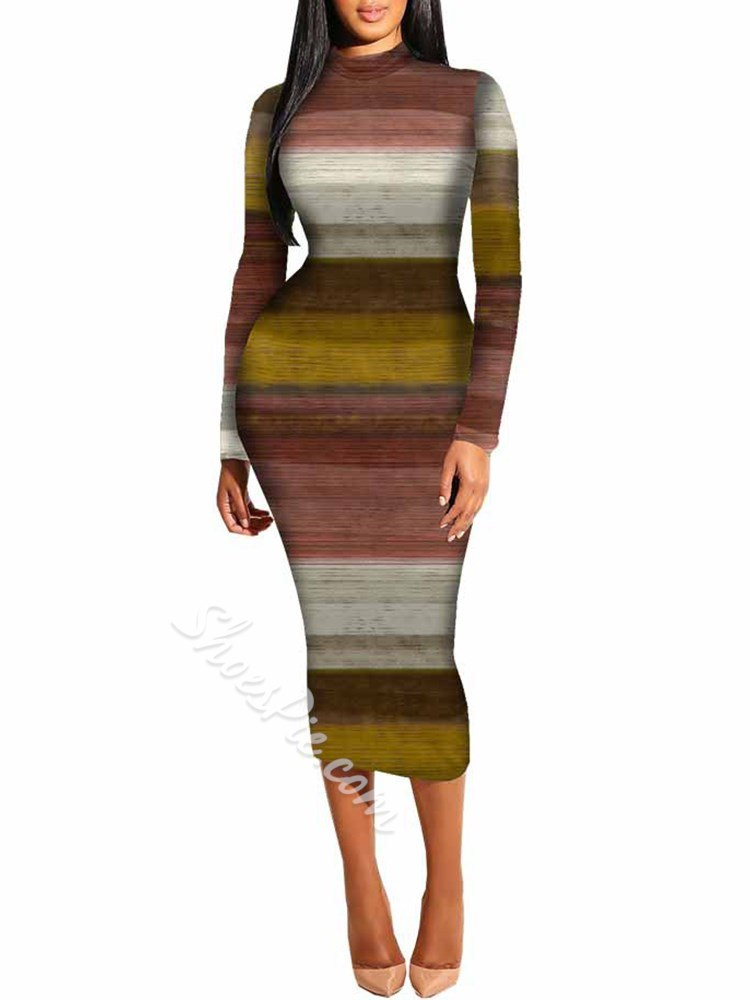 Shoespie Stripe Sexy Women's Bodycon Dress