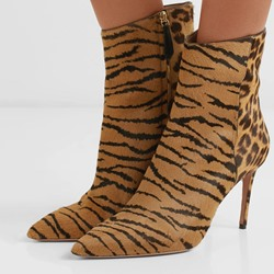Shoepie Sexy Leopard Zipper Stiletto Ankle Boots