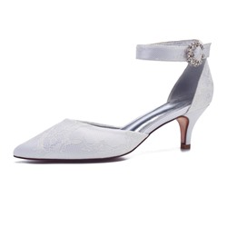 shoespie Solid Buckle Strap Stiletto Heel Pumps