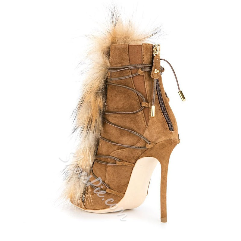 Shoespie Cross Strap Platform Stiletto Heel Ankle Boots