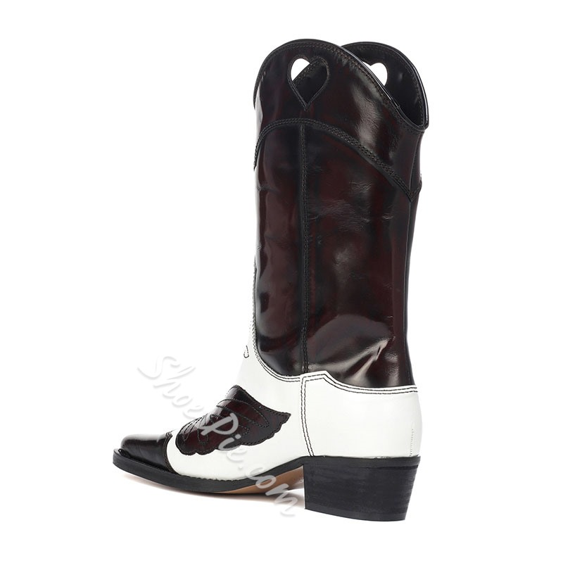 Shoespie Brown Special Hollow Embroidery Ankle Boots