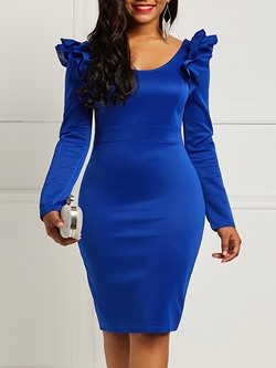 Shoespie Polyester Plain Women's Bodycon Dress