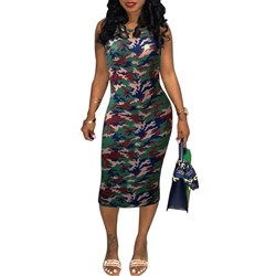 Shoespie Sexy Print Camouflage Women's Bodycon Dress