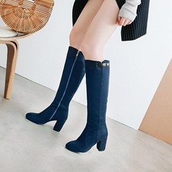 Shoespie Casual Plain Knee High Boots