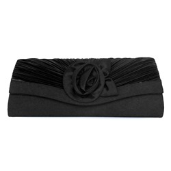 Shoespie Velour Pleated Magnetic Snap Clutch